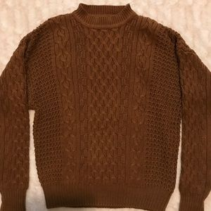Sweaters - EUC {Structure}  Brown cable knit sweater